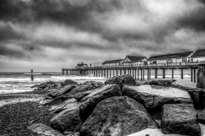 Southwold Pier on a Stormy Day